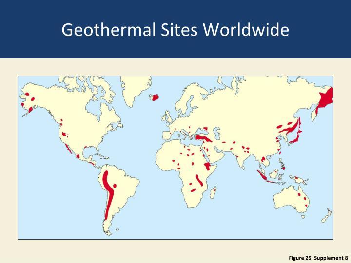 Geothermal Sites Worldwide