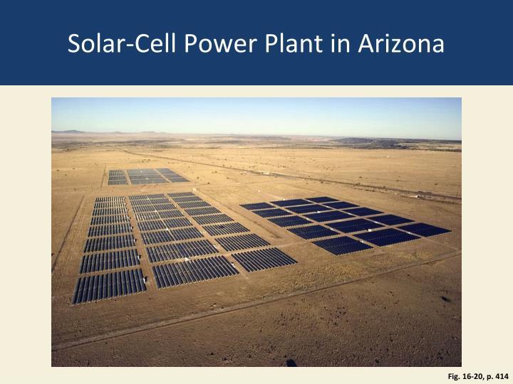 Solar-Cell Power Plant in Arizona