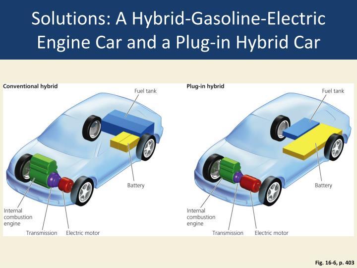 Solutions: A Hybrid-Gasoline-Electric Engine Car and a Plug-in Hybrid Car