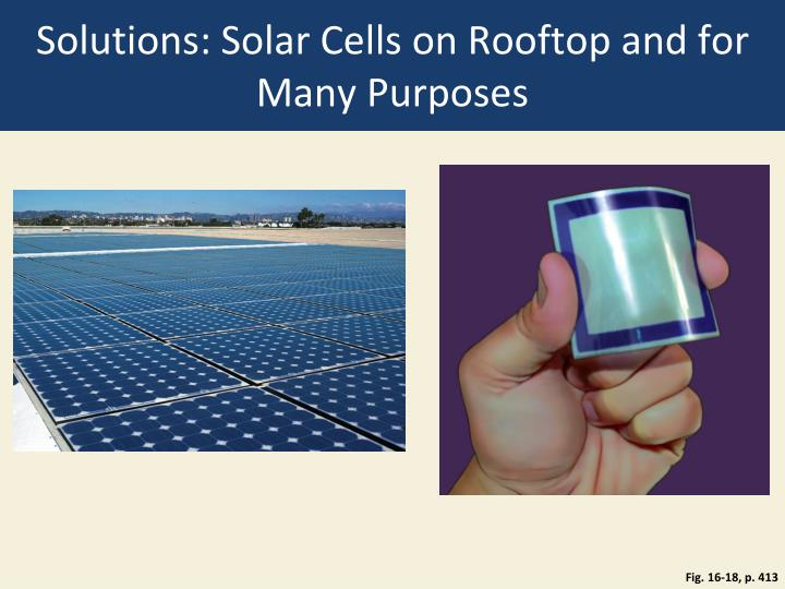 Solutions: Solar Cells on Rooftop and for Many Purposes