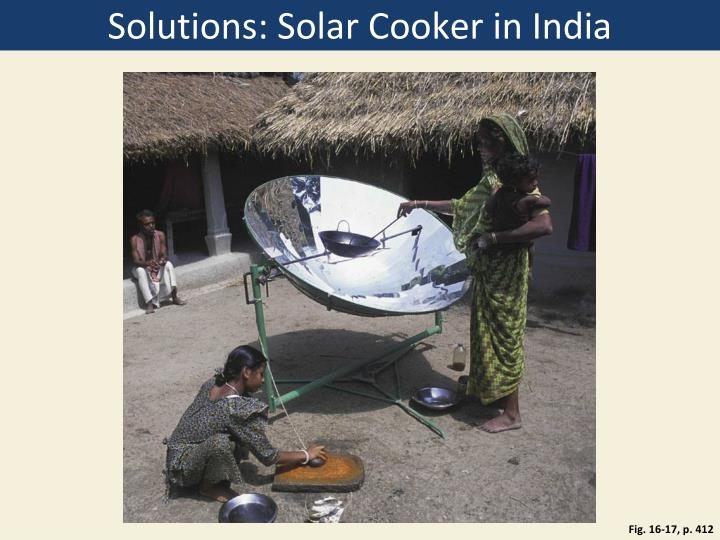 Solutions: Solar Cooker in India