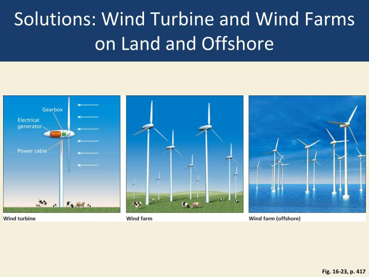 Solutions: Wind Turbine and Wind Farms on Land and Offshore