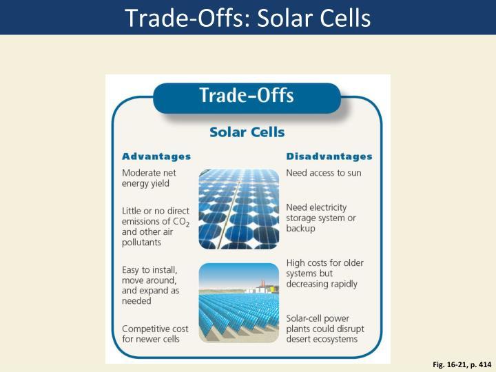 Trade-Offs: Solar Cells
