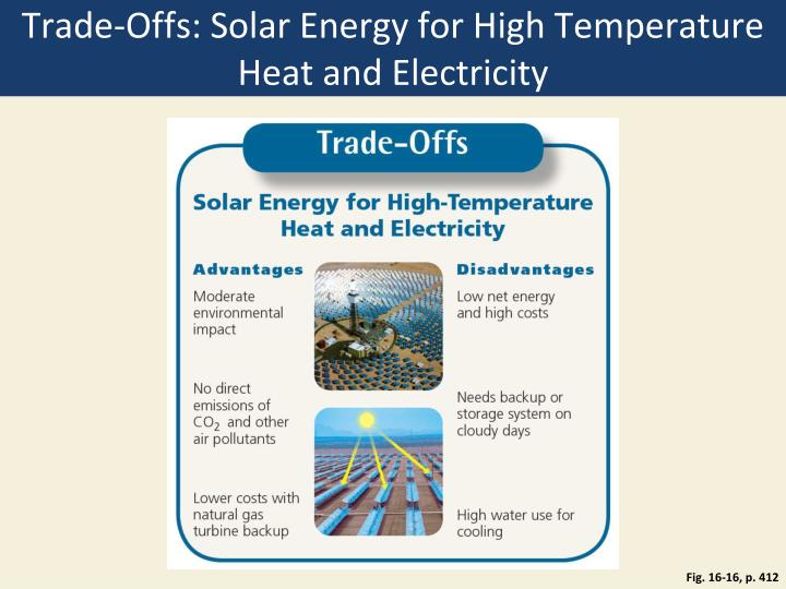 Trade-Offs: Solar Energy for High Temperature Heat and Electricity