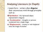 analyzing literature in depth1