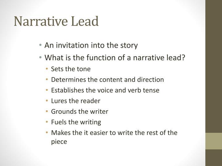 Narrative Lead