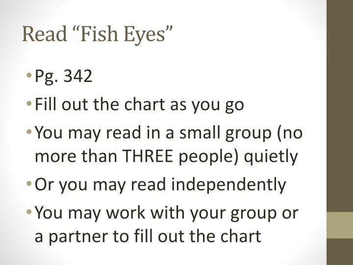 "Read ""Fish Eyes"""