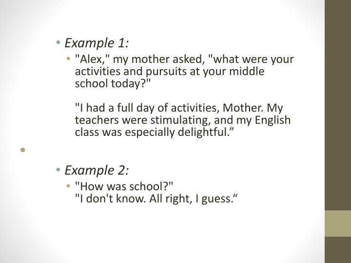 Example 1: