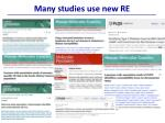many studies use new re