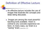 definition of effective lecture3