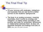 the final final tip