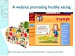 a website promoting healthy eating