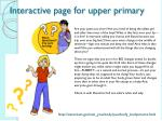 interactive page for upper primary