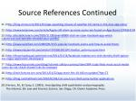 source references continued