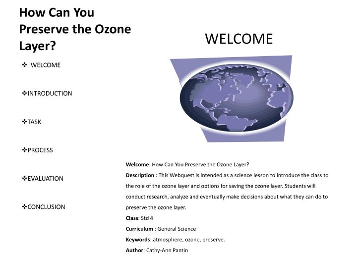 an introduction to the issue of the ozone layer The ozone hole was seen as a hot issue and imminent risk protecting the ozone layer: the united nations history, earthscan press london.