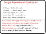 stages psychosexual development