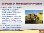 examples of interdisciplinary projects