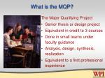 what is the mqp