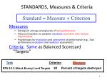 standards measures criteria