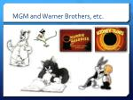 mgm and warner brothers etc