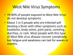 west nile virus symptoms