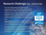 research challenge aka science fair