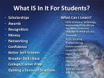 what is in it for students
