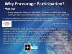 why encourage participation