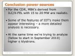 conclusion power sources