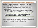 global optical phase stable timing distribution