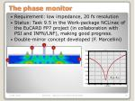 the phase monitor