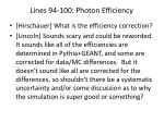 lines 94 100 photon efficiency
