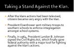 taking a stand against the klan
