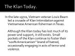 the klan today