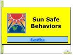 sun safe behaviors
