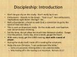 discipleship introduction