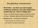 discipleship introduction1