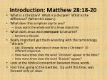 introduction matthew 28 18 20