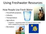using freshwater resources