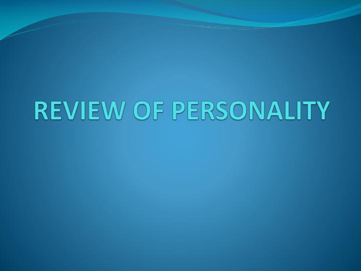 review of personality n.