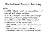mobile home decommissioning