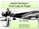 amelia earheart first lady of flight