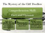 the mystery of the cliff dwellers