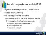 local comparisons with mast