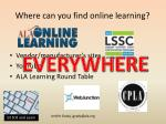 where can you find online learning