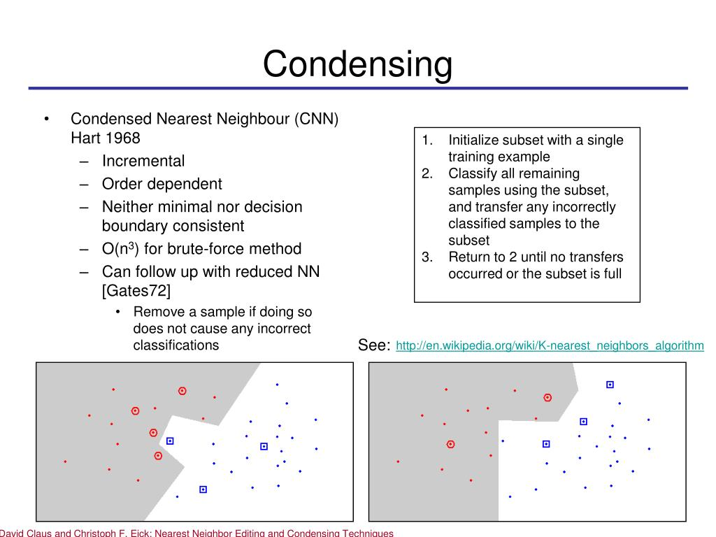 PPT - Nearest Neighbor Editing and Condensing Techniques