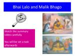 bhai lalo and malik bhago