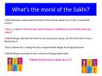 what s the moral of the sakhi