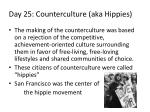 day 25 counterculture aka hippies
