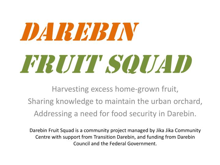 darebin fruit squad n.